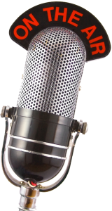 This Show Is So Gay radio interview, image of a microphone. No link.