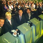 Jimmy (third from left) with other preliminary competition judges at Miss Universe 2011