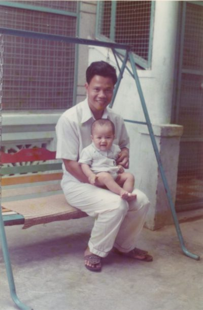 Jimmy Nguyen with father in Vietnam