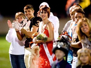 Photo of Whitney Kropp and Josh - homecoming